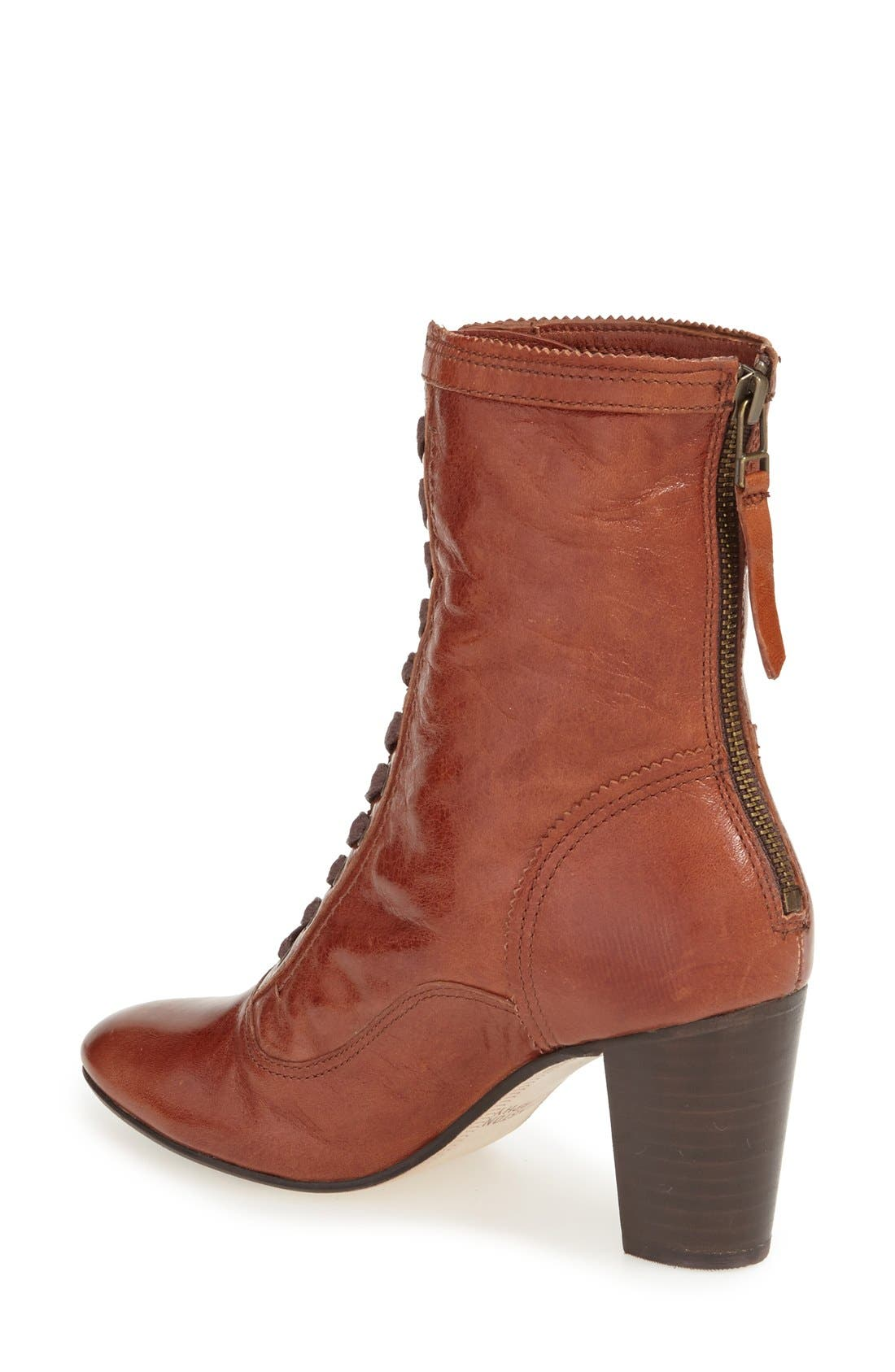 'Adaline' Lace-Up Boot,                             Alternate thumbnail 2, color,                             Whiskey Washed Leather