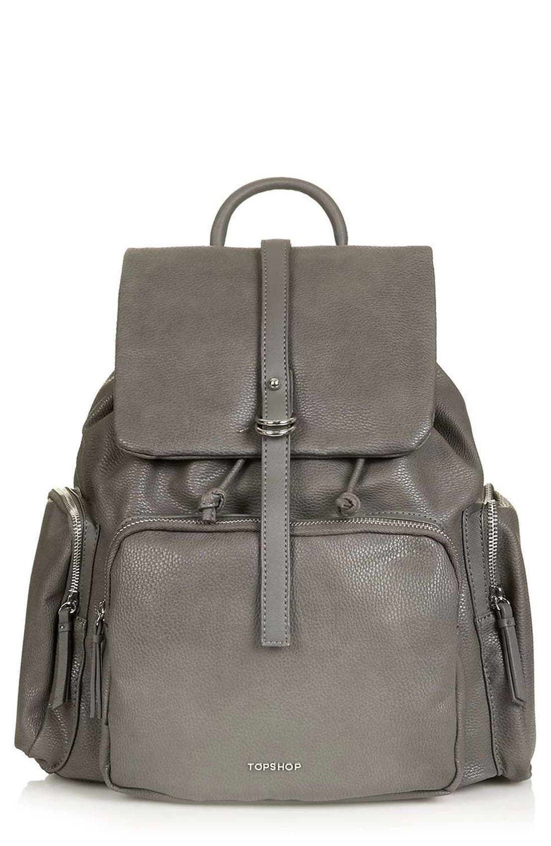 Alternate Image 1 Selected - Topshop Faux Leather Backpack