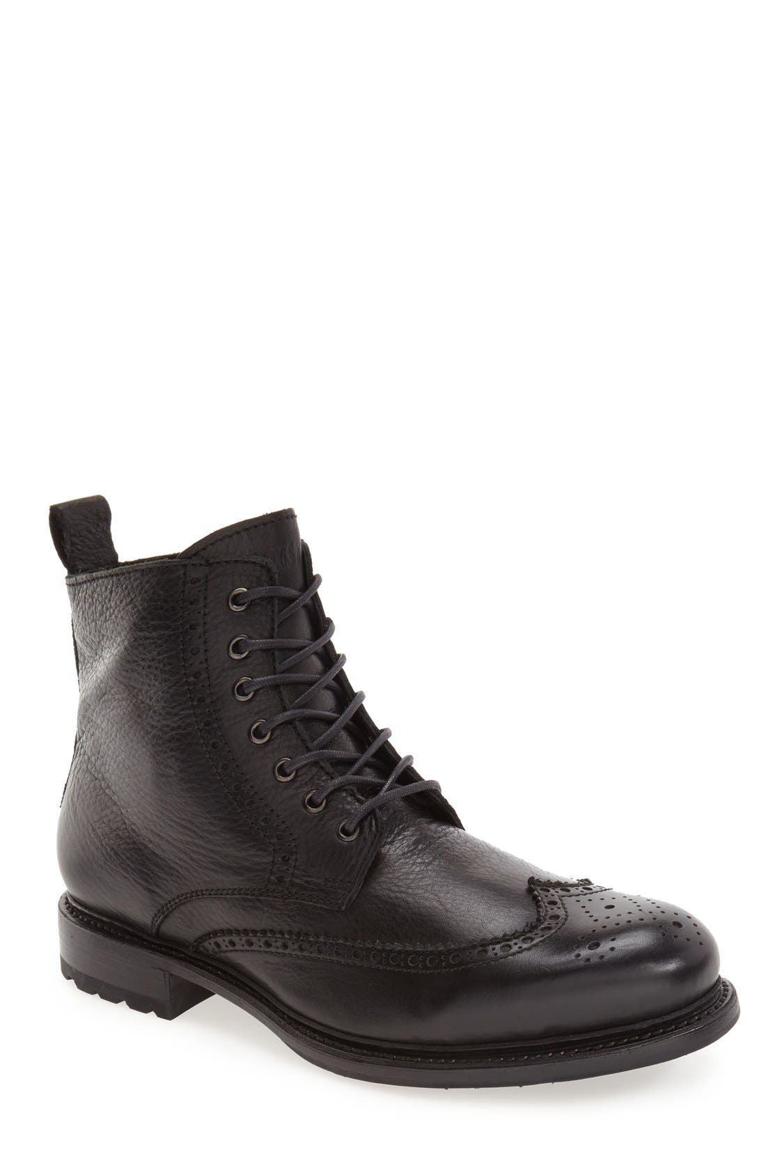 'KM24' Wingtip Boot,                             Main thumbnail 1, color,                             Black
