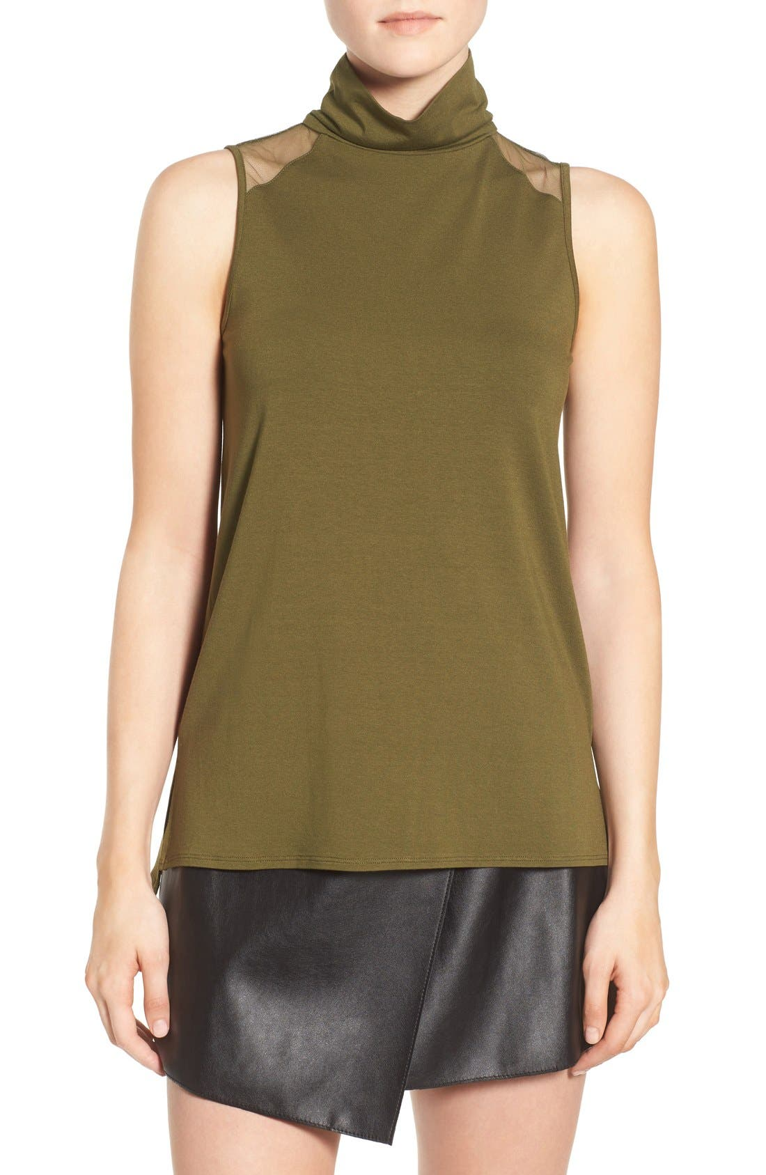 High Neck Tank,                             Main thumbnail 1, color,                             Olive Branch