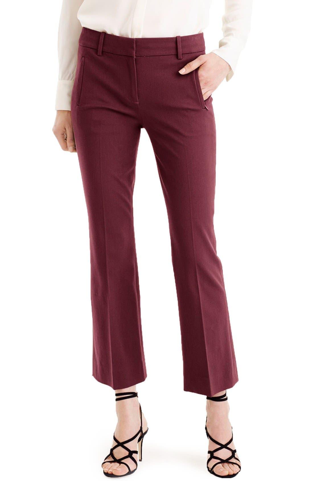 Main Image - J.Crew 'Teddie' Bi-Stretch Cotton Blend Pants (Regular & Petite)