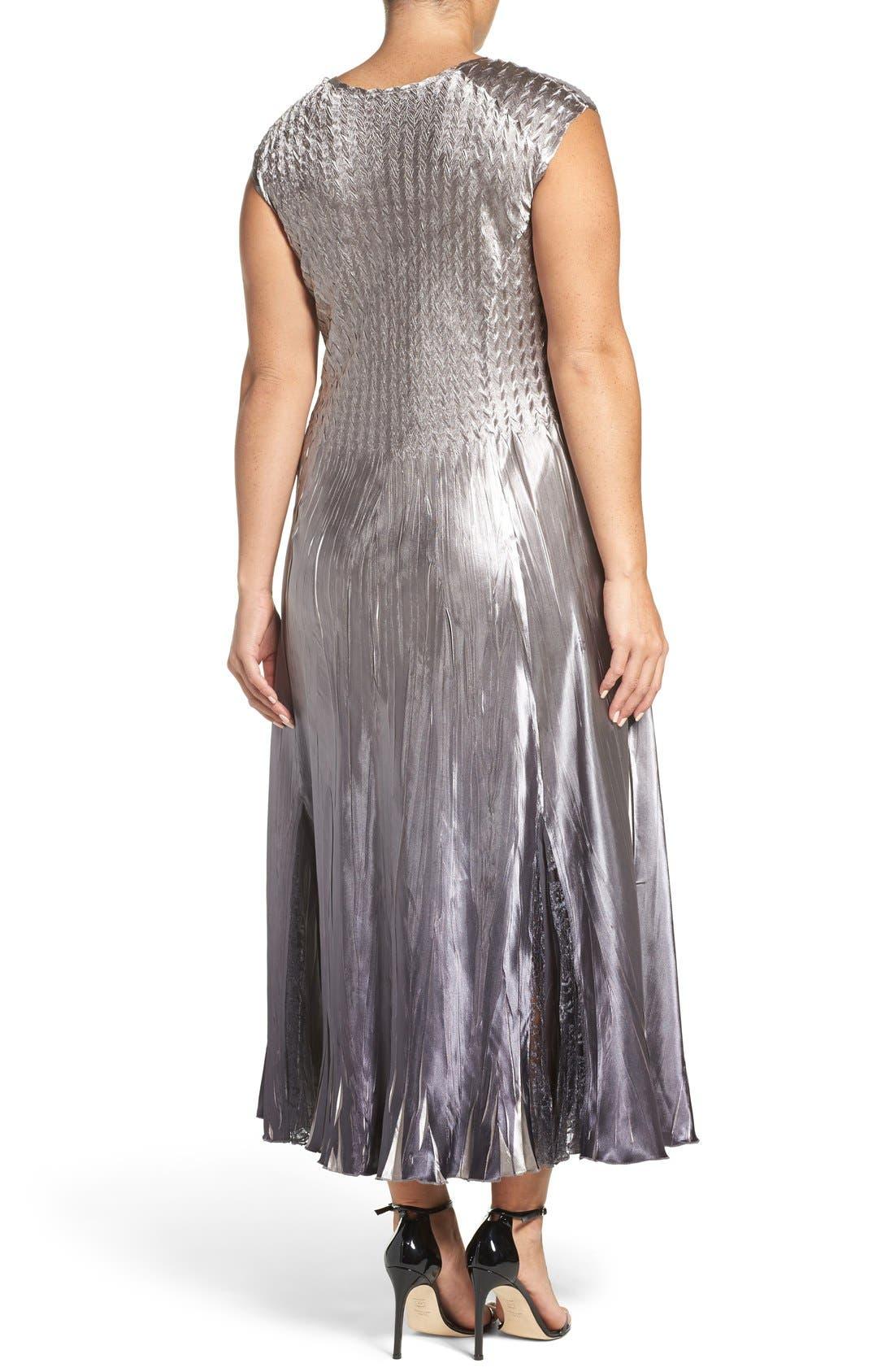 Alternate Image 4  - Komarov A-Line Dress & Lace Panel Jacket (Plus Size)