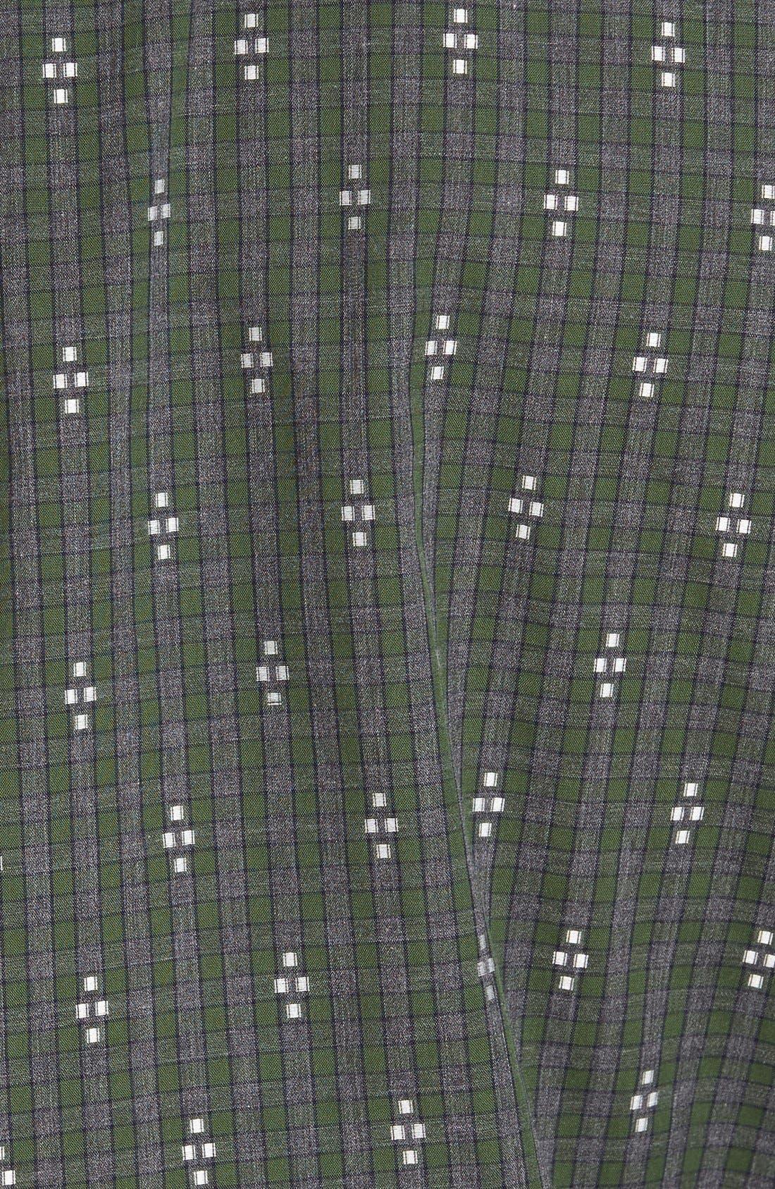 'Maxwell' Jacquard Check Sport Shirt,                             Alternate thumbnail 5, color,                             Grey/ Multi