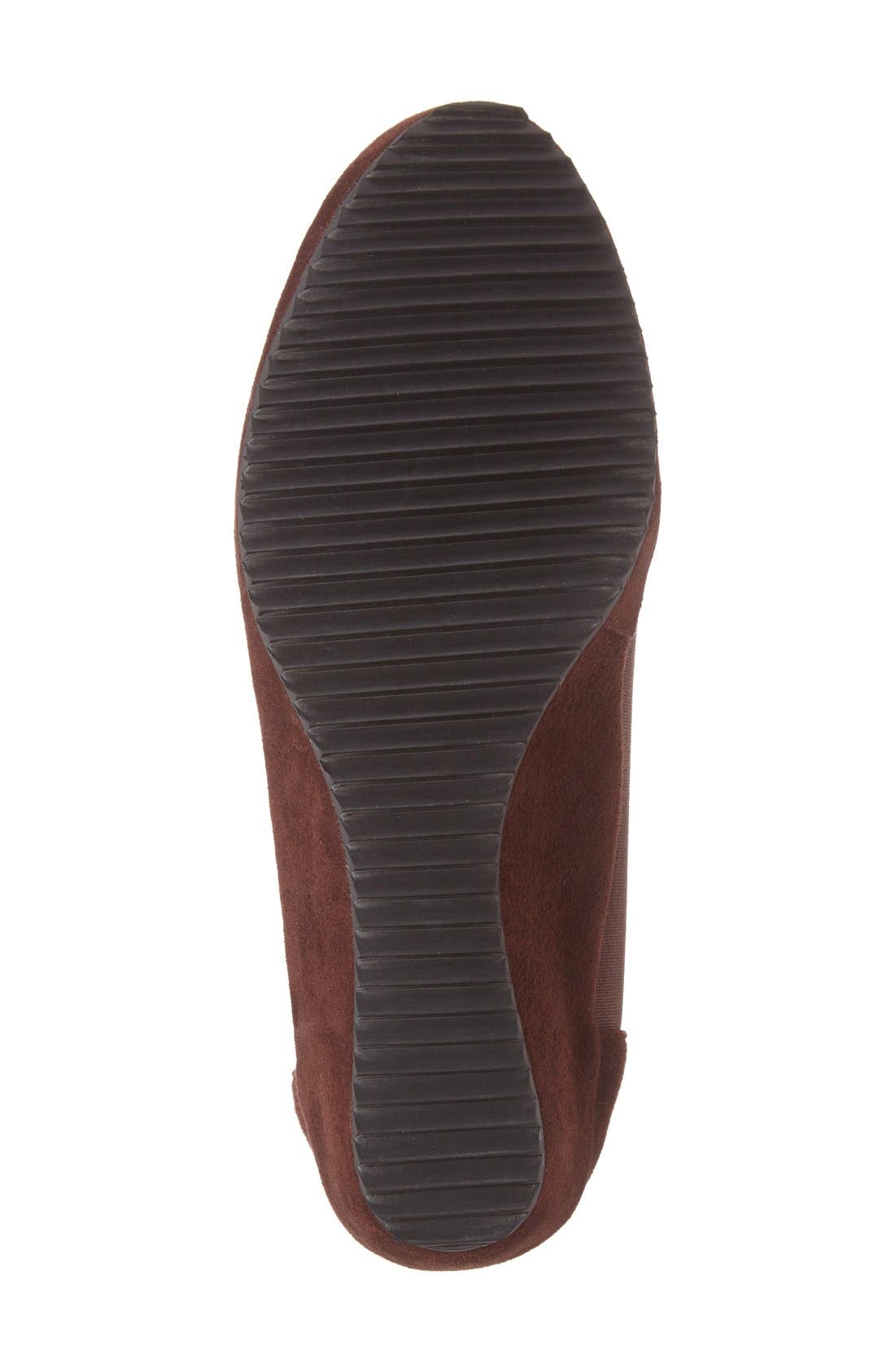 'Bowden' Slip-On Wedge,                             Alternate thumbnail 4, color,                             Espresso Suede Leather