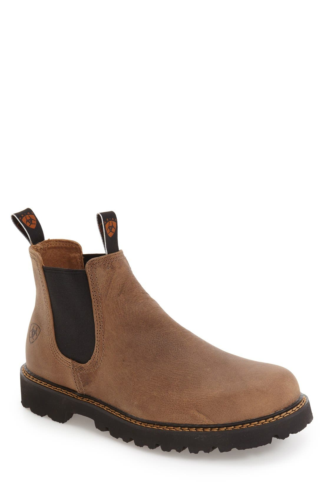 Main Image - Ariat 'Spot Hog' Chelsea Boot (Men)