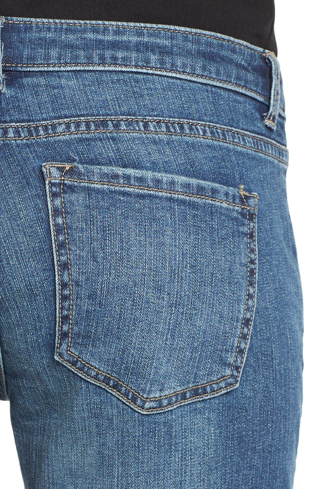 Alternate Image 5  - Caslon® Distressed Boyfriend Jeans (Indigo Tide)