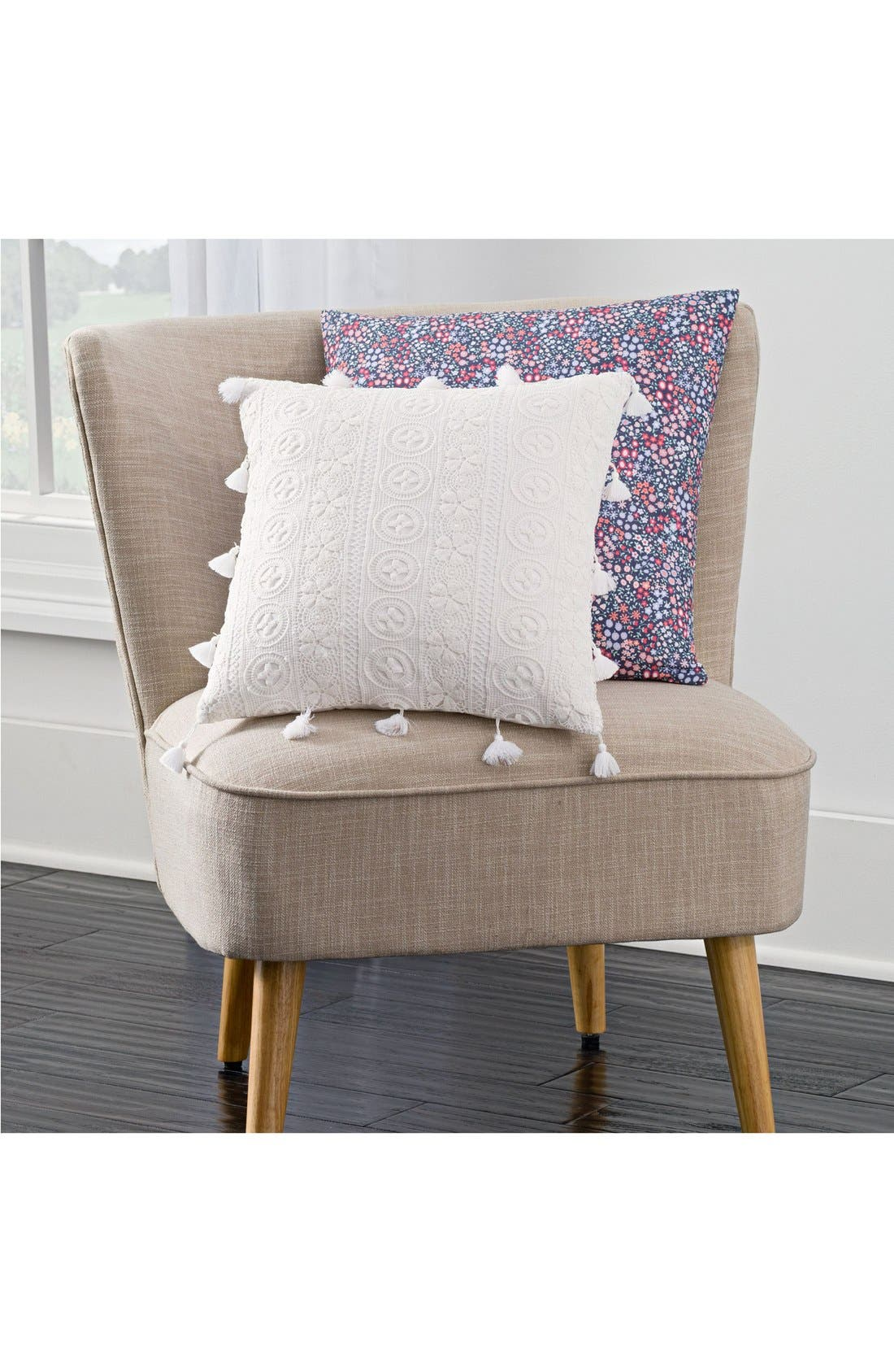 Alternate Image 2  - cupcakes and cashmere 'Sketch' Floral Print Accent Pillow