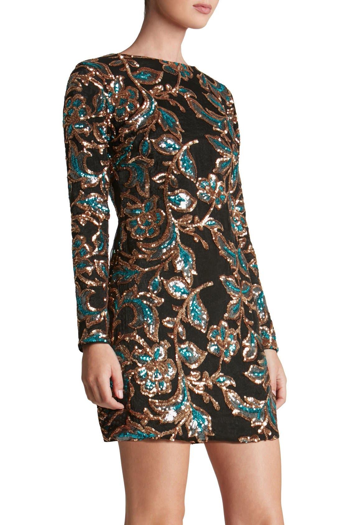 Alternate Image 4  - Dress the Population 'Naomi' Sequin Minidress