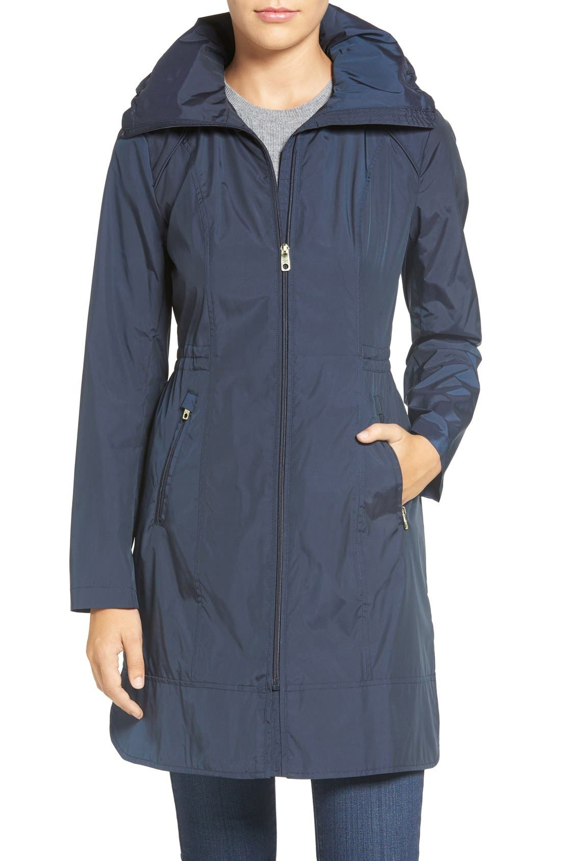 Packable Rain Jacket,                             Main thumbnail 1, color,                             Indigo