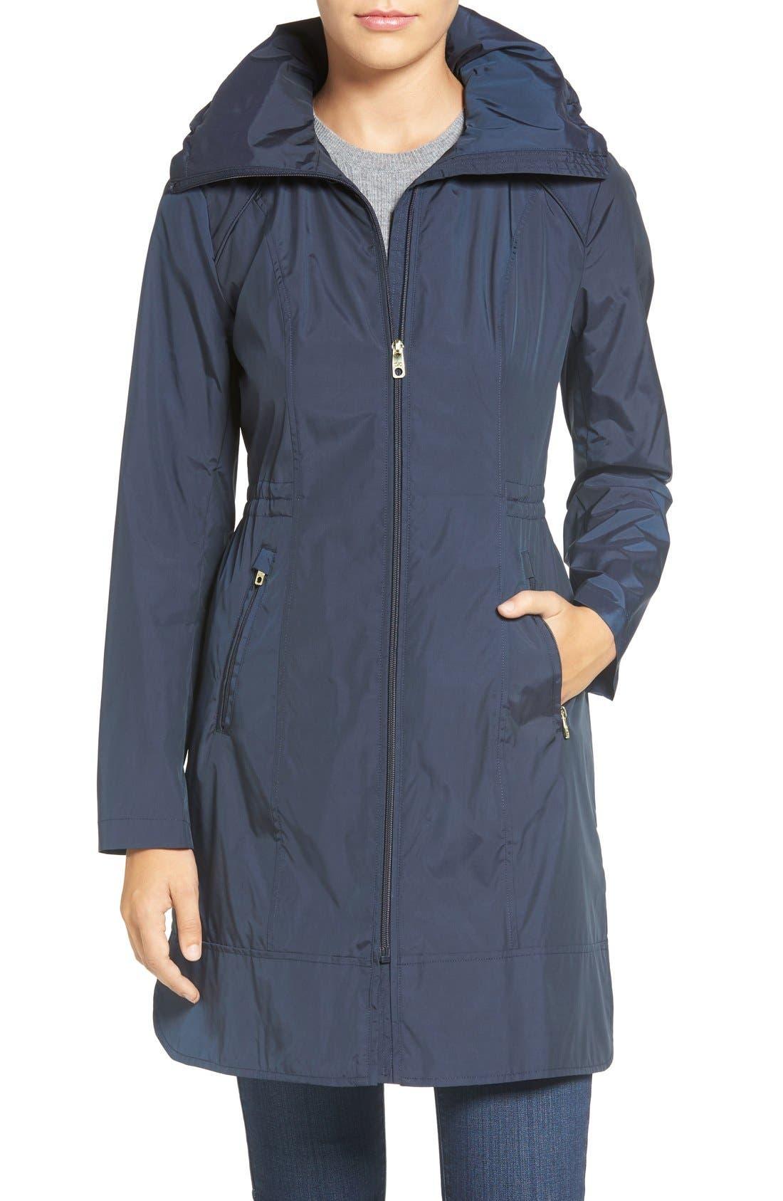 Packable Rain Jacket,                         Main,                         color, Indigo