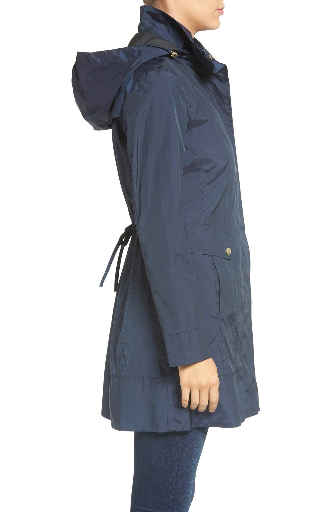 Alternate Image 3  - Cole Haan Signature Back Bow Packable Hooded Raincoat (Regular & Petite)