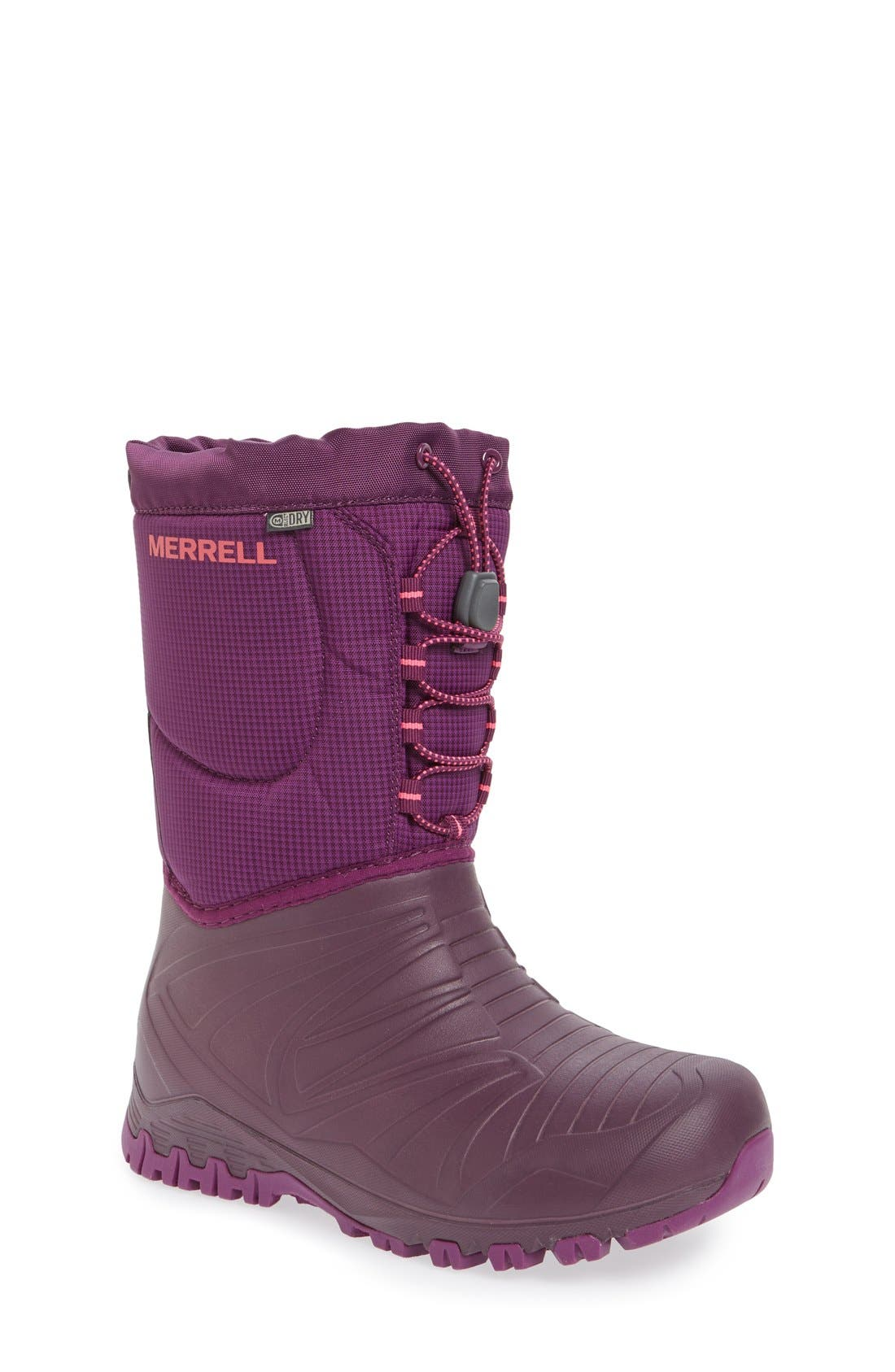 'Snow Quest' Waterproof Boot,                             Main thumbnail 1, color,                             Berry