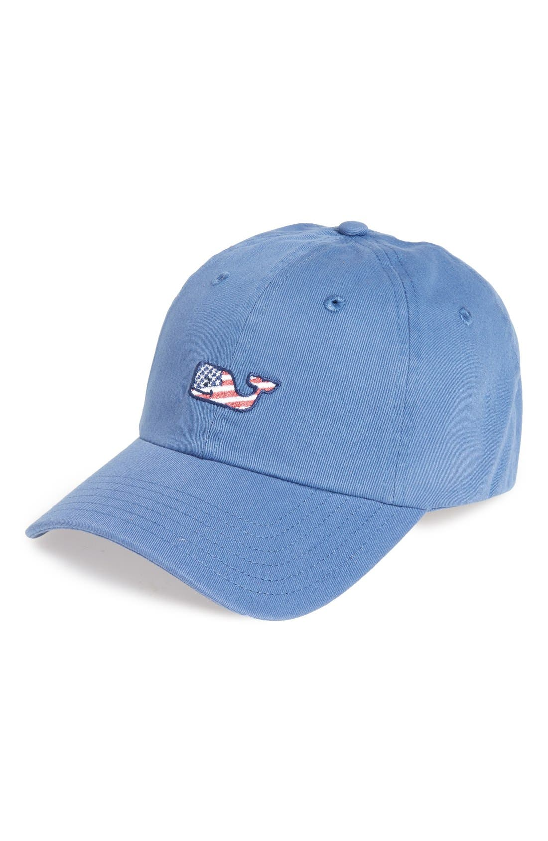 Main Image - vineyard vines Flag Whale Logo Baseball Cap