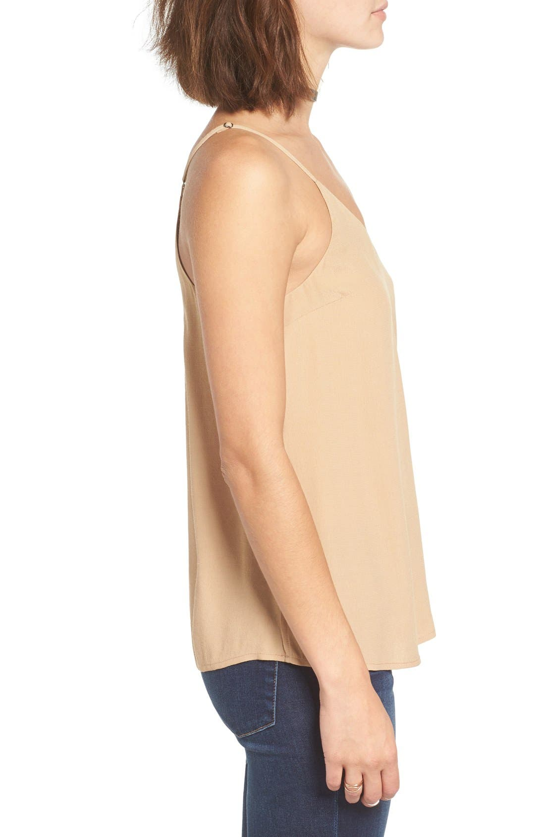 Double V Camisole,                             Alternate thumbnail 3, color,                             Tan Toffee