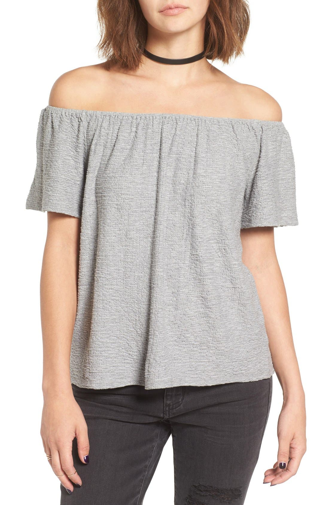 Alternate Image 1 Selected - Chloe & Katie Textured Off the Shoulder Top