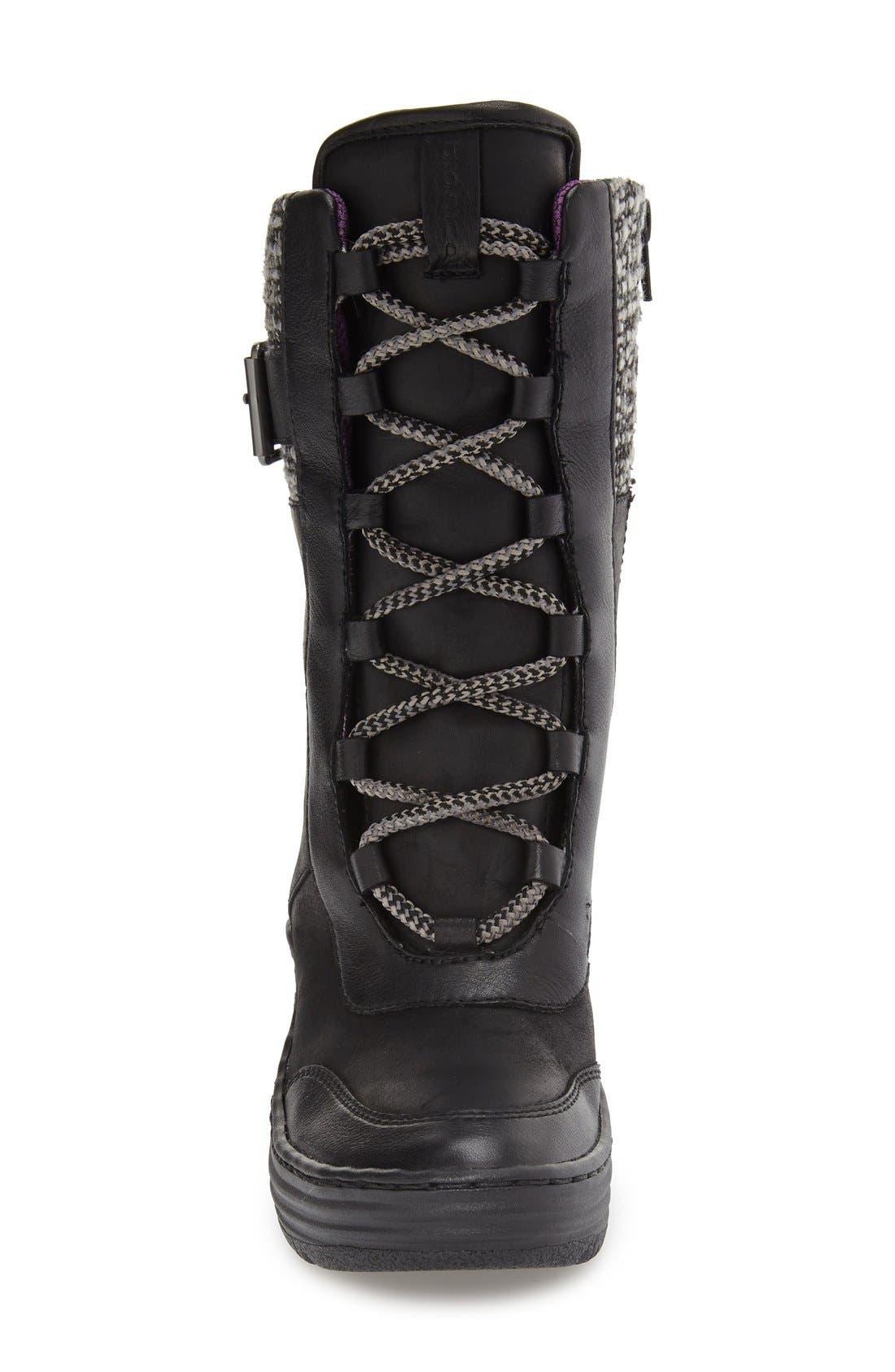Garland Waterproof Wedge Boot,                             Alternate thumbnail 2, color,                             Black Waterproof Leather