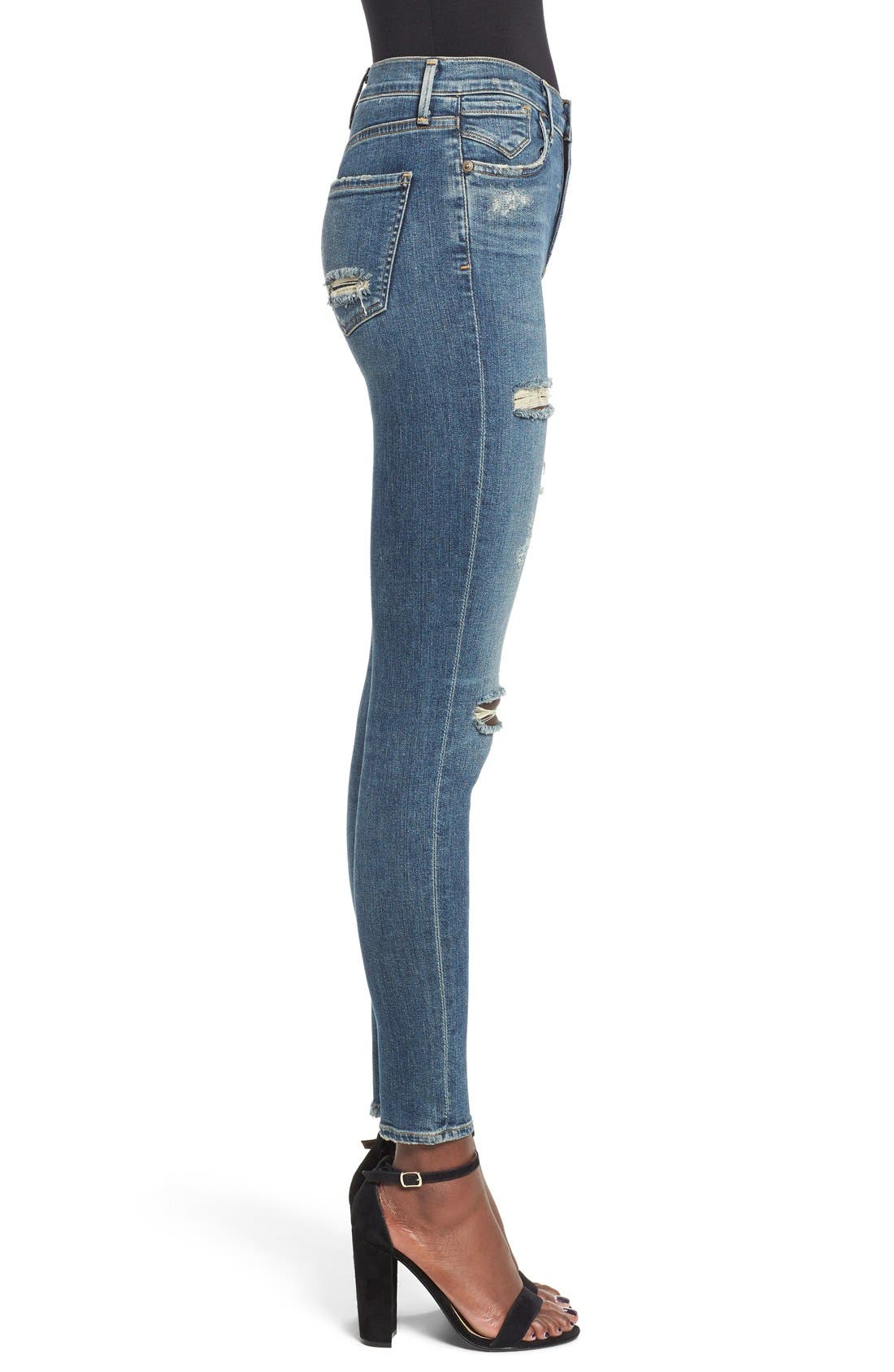 'Sophie' High Rise Skinny Jeans,                             Alternate thumbnail 3, color,                             Kansas City
