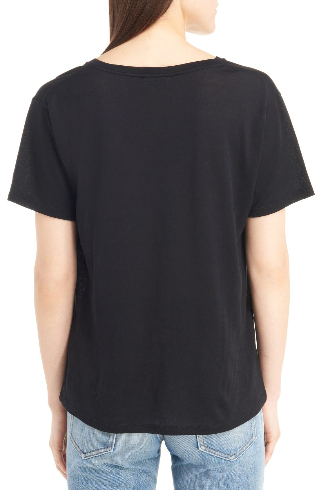 Alternate Image 2  - Saint Laurent Blood Luster Graphic Cotton Tee