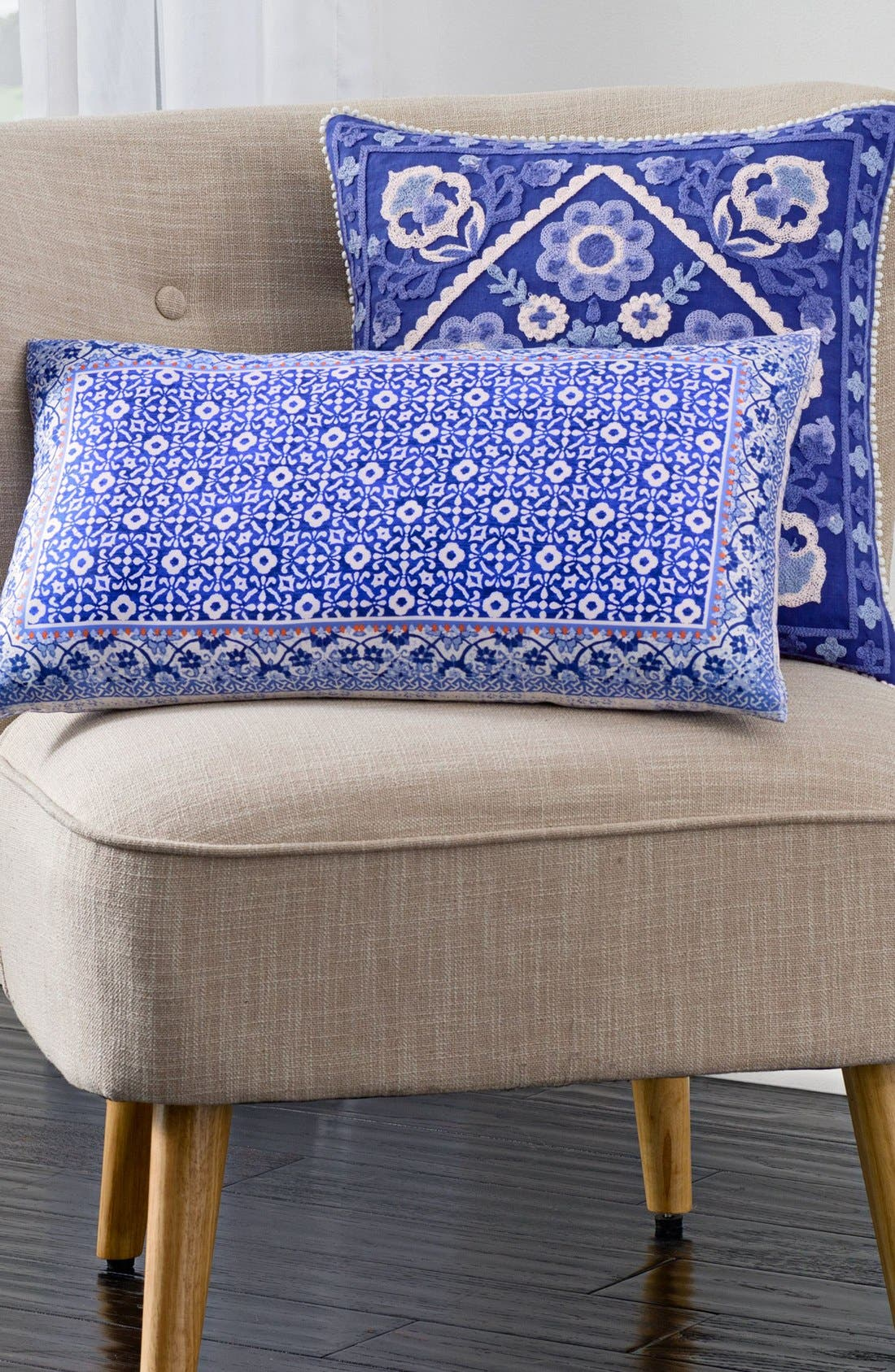 Alternate Image 2  - cupcakes & cashmere Blue Frame Pillow