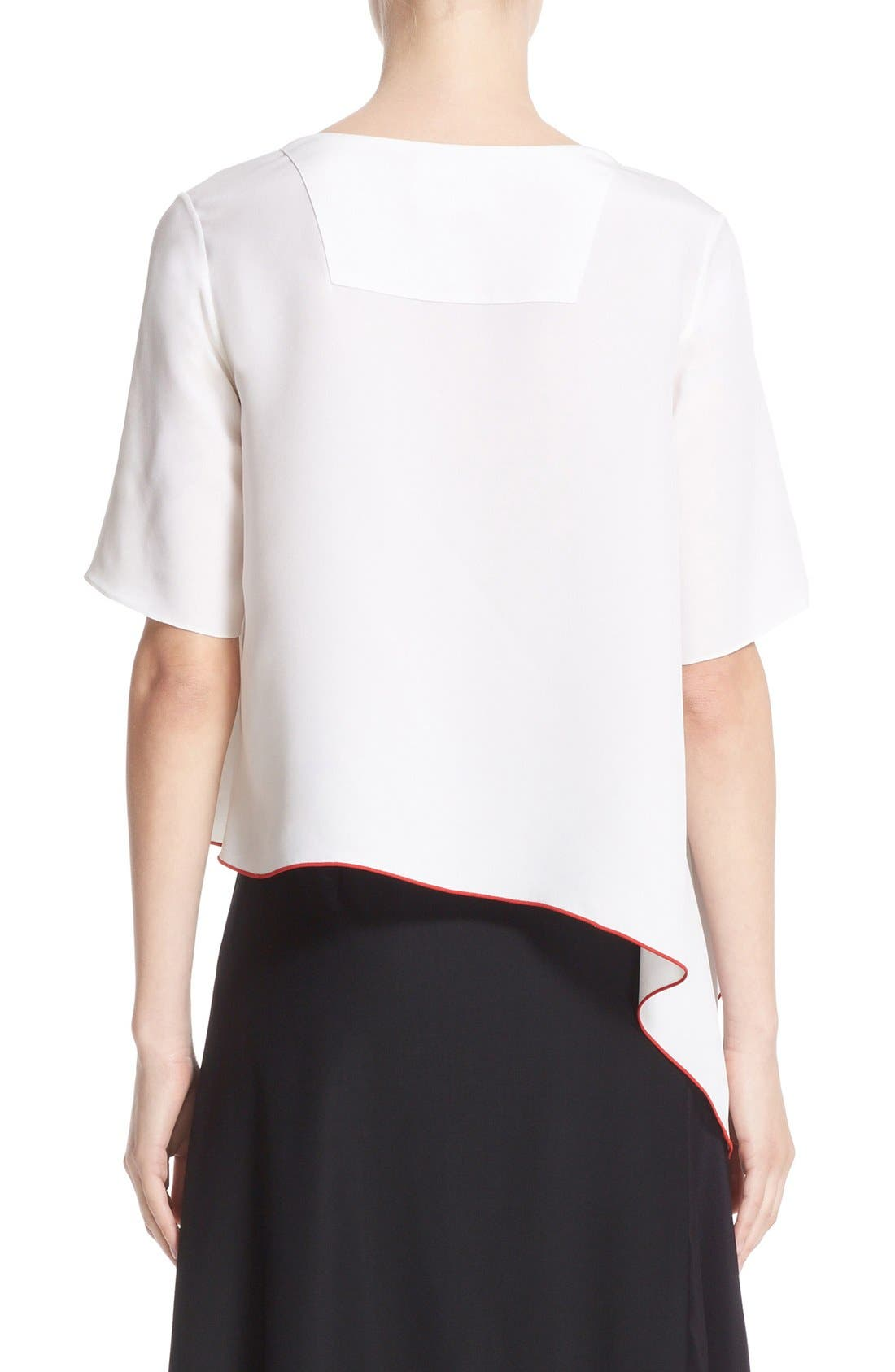 Alternate Image 2  - Colovos Asymmetrical Silk Tee
