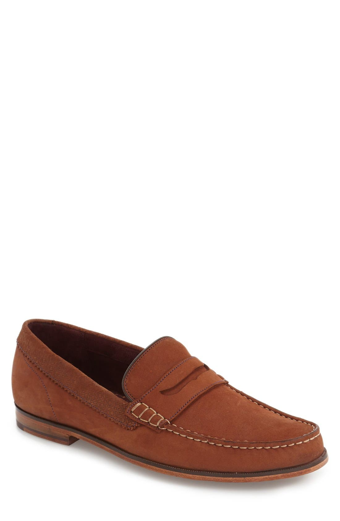 'Miicke 2' Penny Loafer,                         Main,                         color, Dark Orange