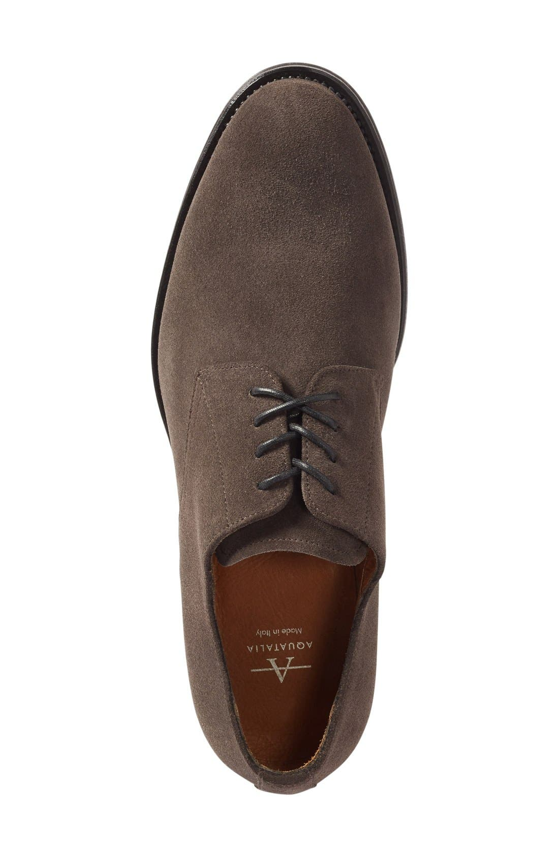 'Vance' Plain Toe Derby,                             Alternate thumbnail 3, color,                             Charcoal Suede