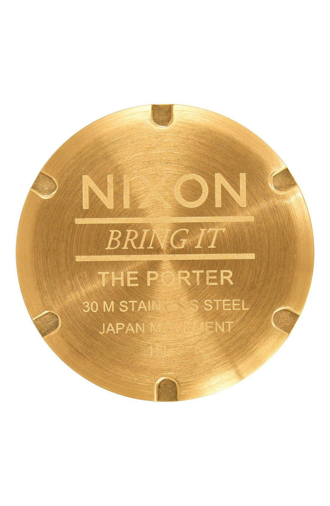 Alternate Image 4  - Nixon The Porter Bracelet Watch, 40mm