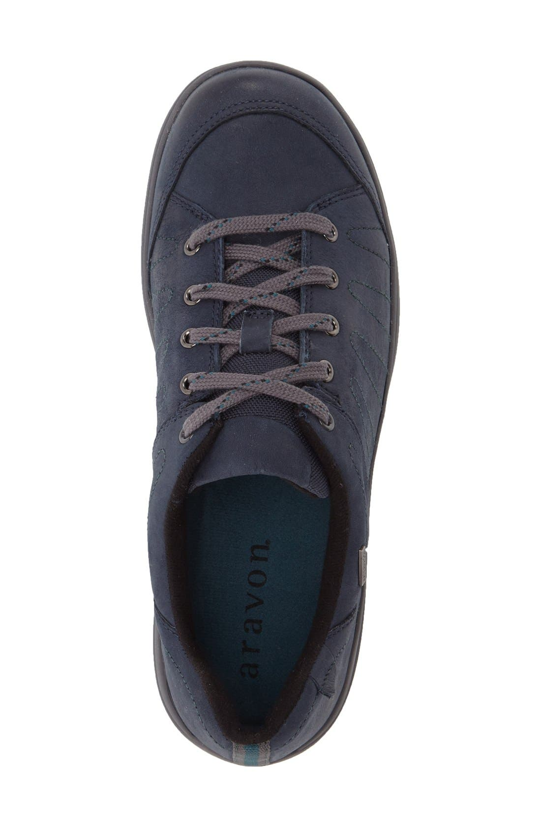 'REVsavor' Waterproof Sneaker,                             Alternate thumbnail 3, color,                             Navy Leather