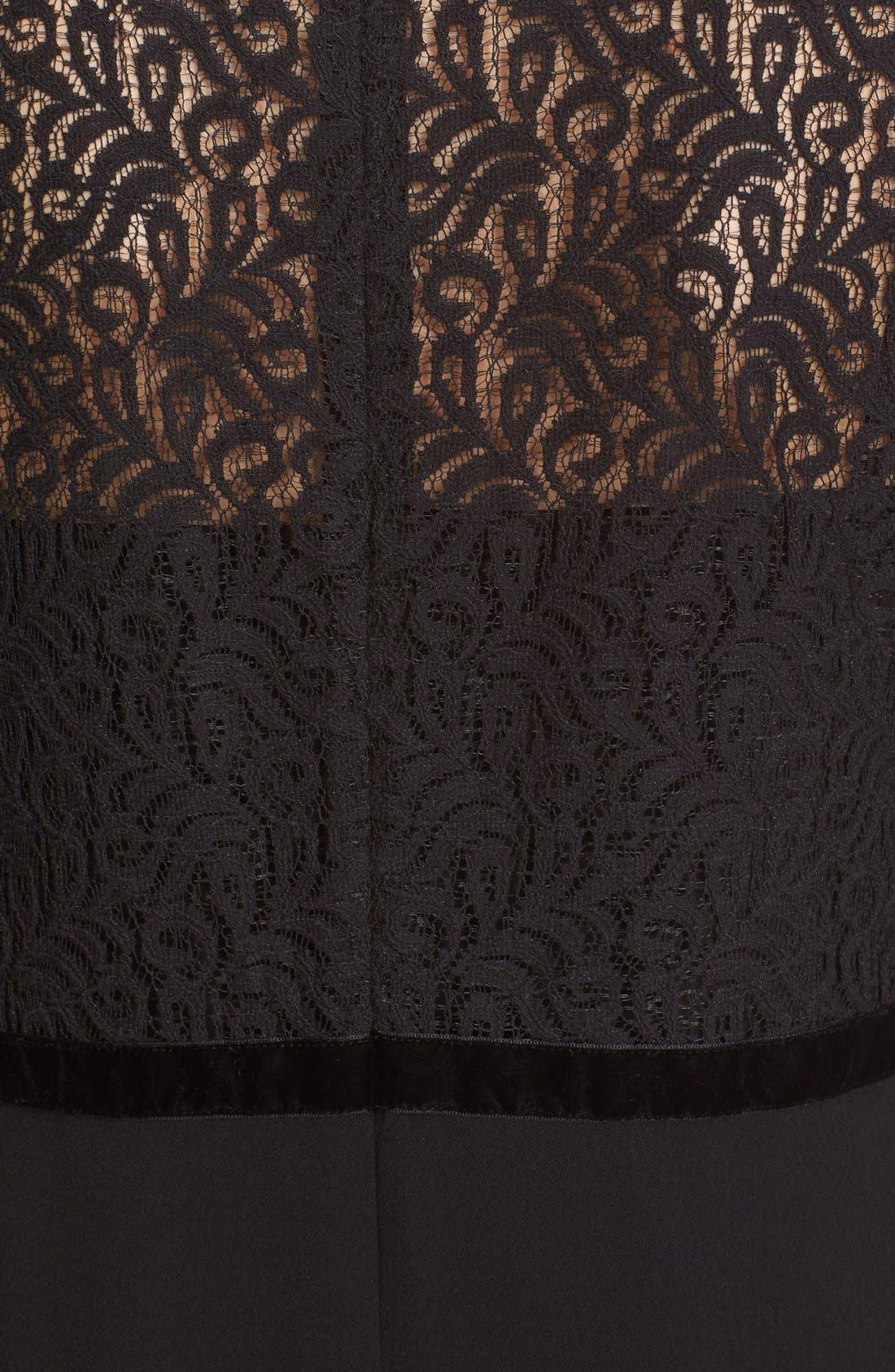 Alternate Image 5  - The Kooples Lace Overlay Crepe Dress