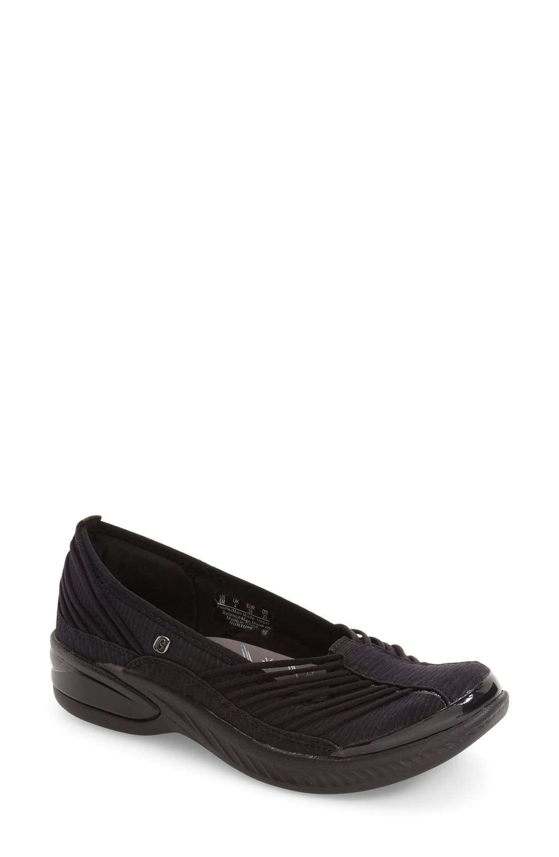 Nurture Bungee Strap Slip-On,                         Main,                         color, Black Mesh Fabric