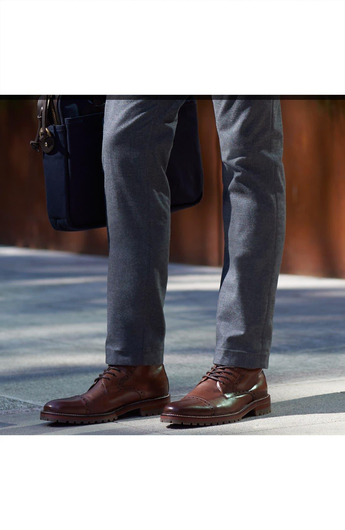 Alternate Image 7  - J&M 1850 'Karnes' Brogue Cap Toe Boot (Men)