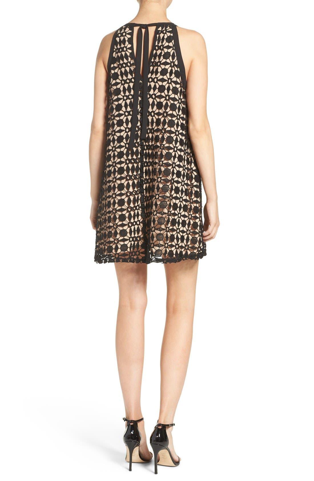 Alternate Image 2  - Chelsea28 Lace Trapeze Dress