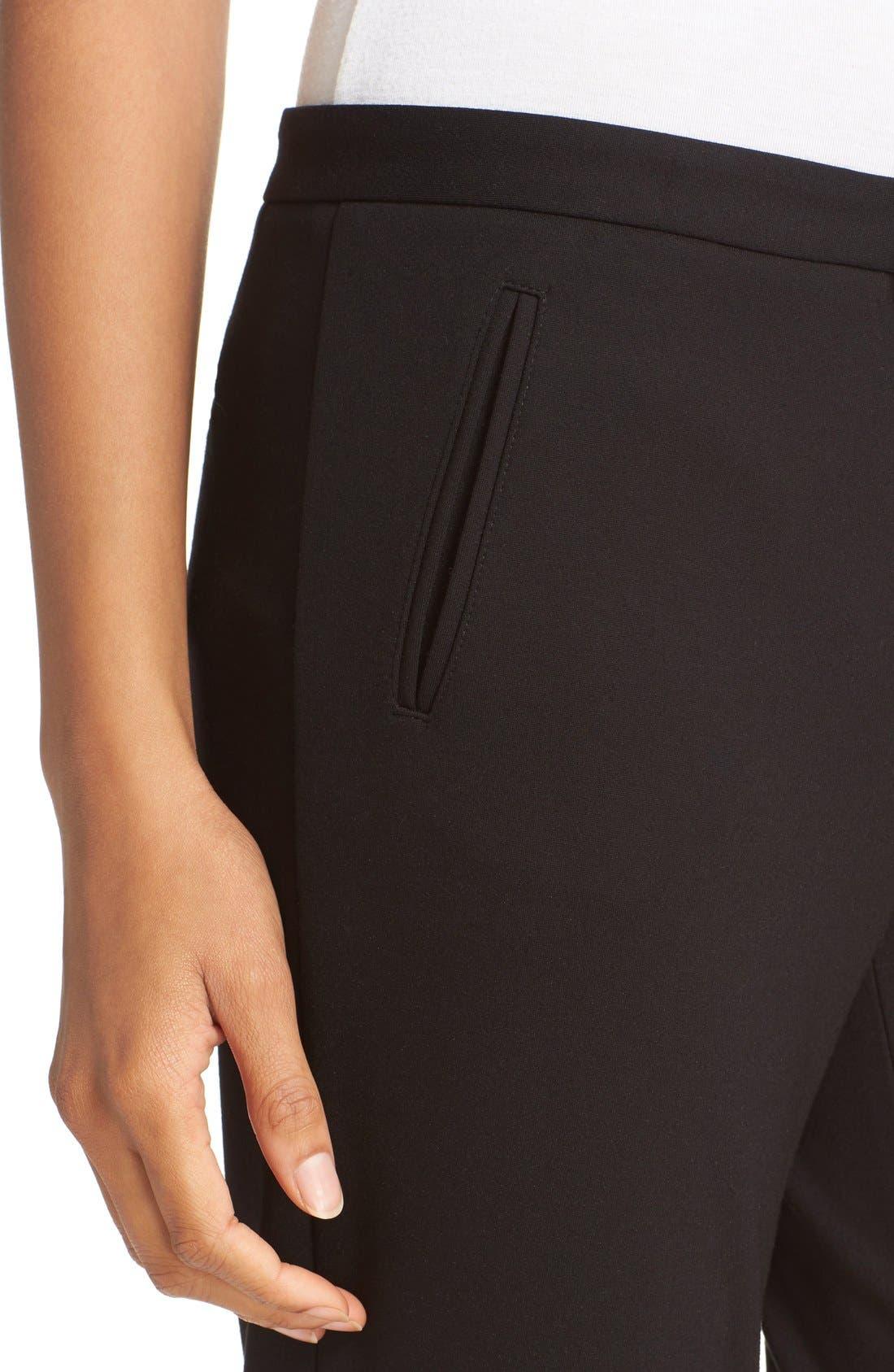 Slim Crop Pants,                             Alternate thumbnail 4, color,                             Black