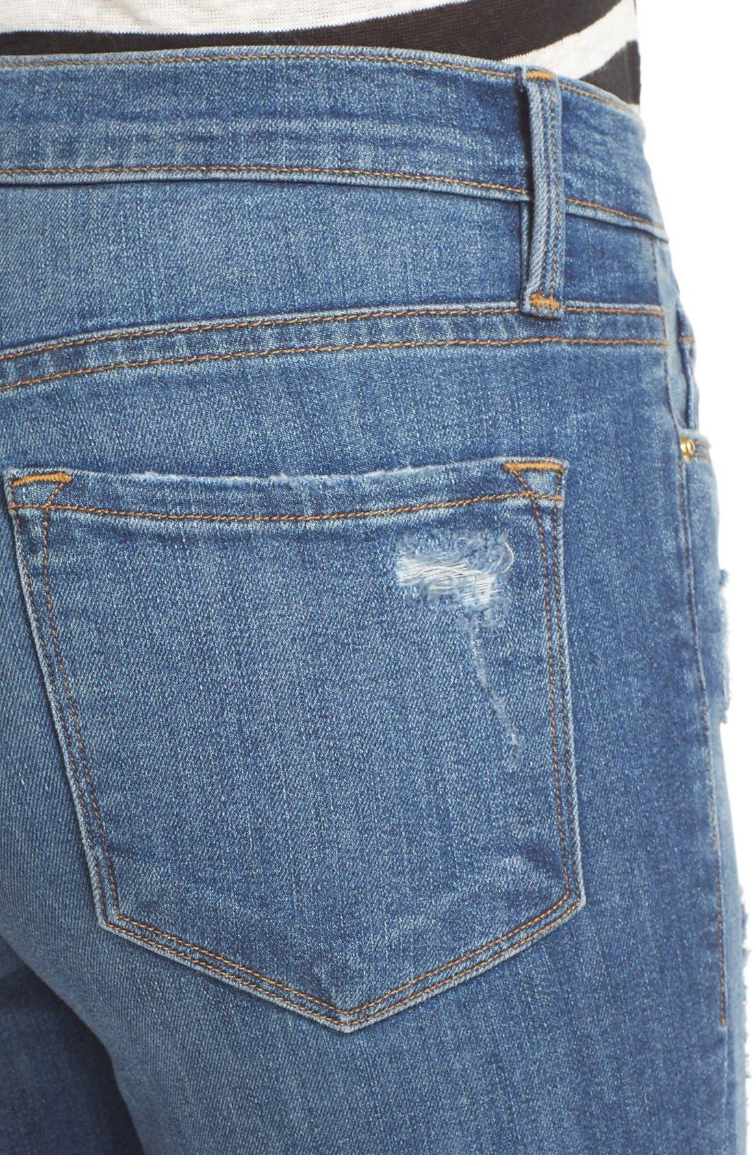 'Le Skinny de Jeanne' Jeans,                             Alternate thumbnail 4, color,                             Hilltop