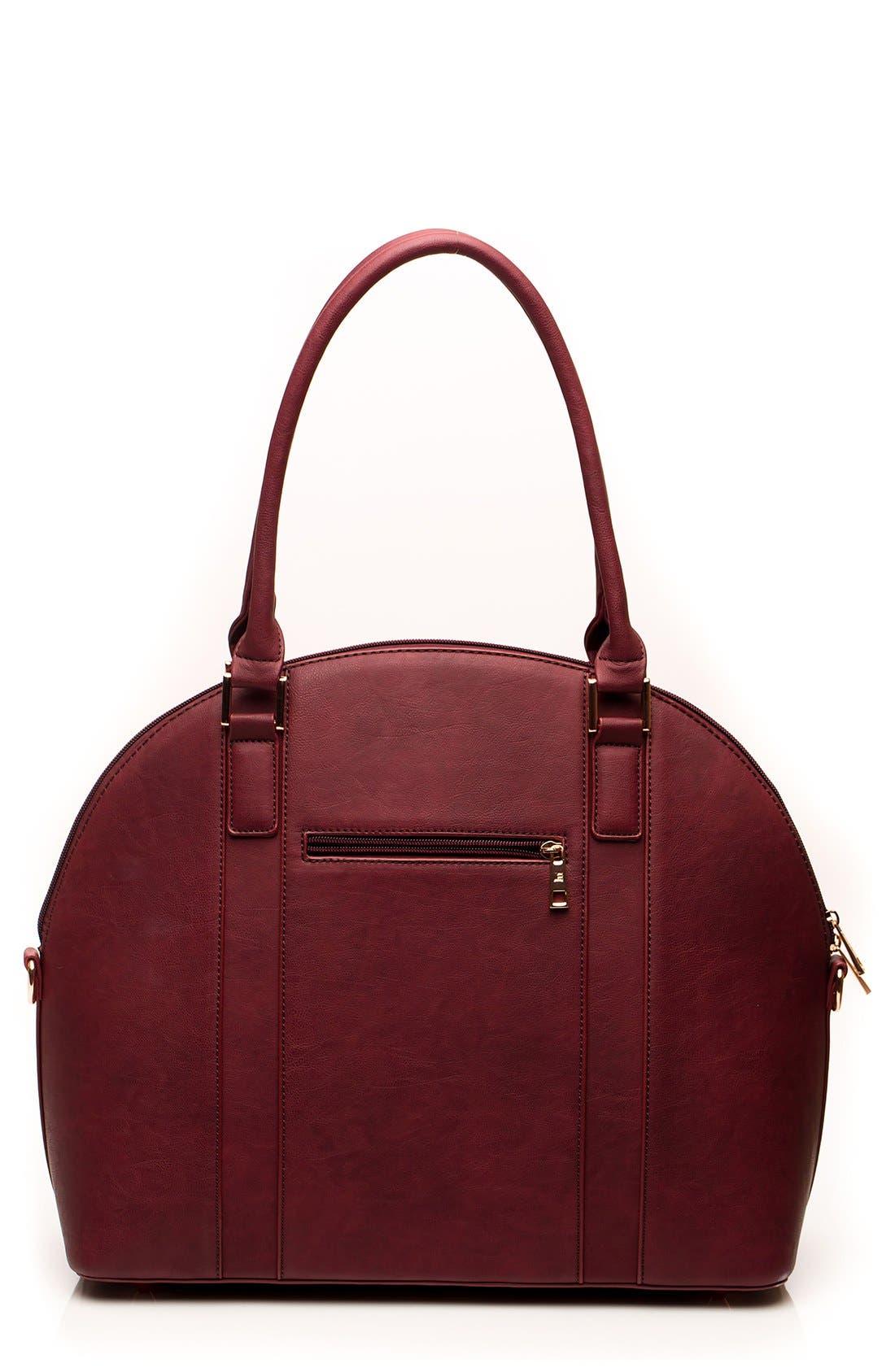 'Rotunda' Diaper Bag,                         Main,                         color, Pomegranate
