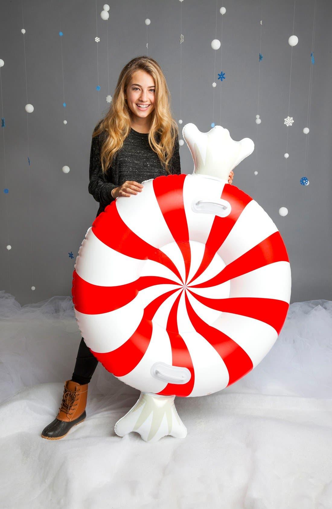 Alternate Image 2  - BigMouth Inc. Giant Peppermint Twist Snow Tube