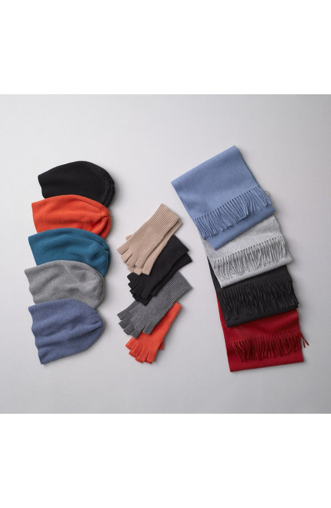 Alternate Image 2  - Nordstrom Solid Woven Cashmere Scarf