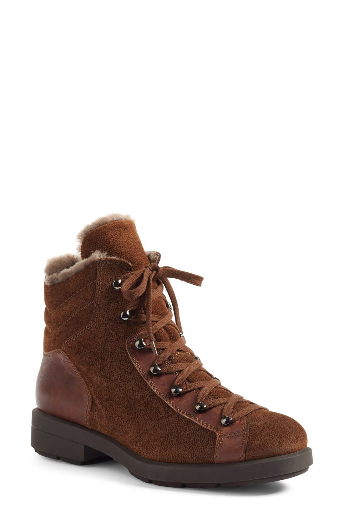 Main Image - Aquatalia Lettie Weatherproof Lace-Up Boot (Women)