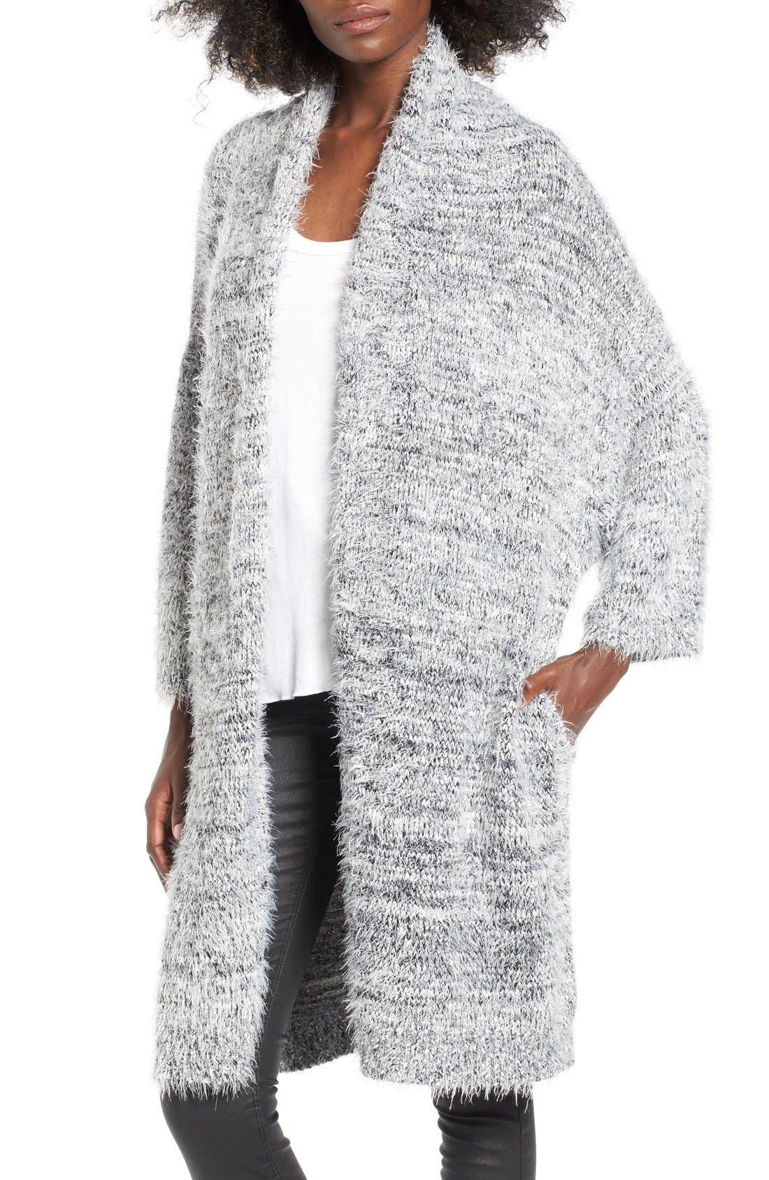 Main Image - Leith Fluffy Oversize Cardigan