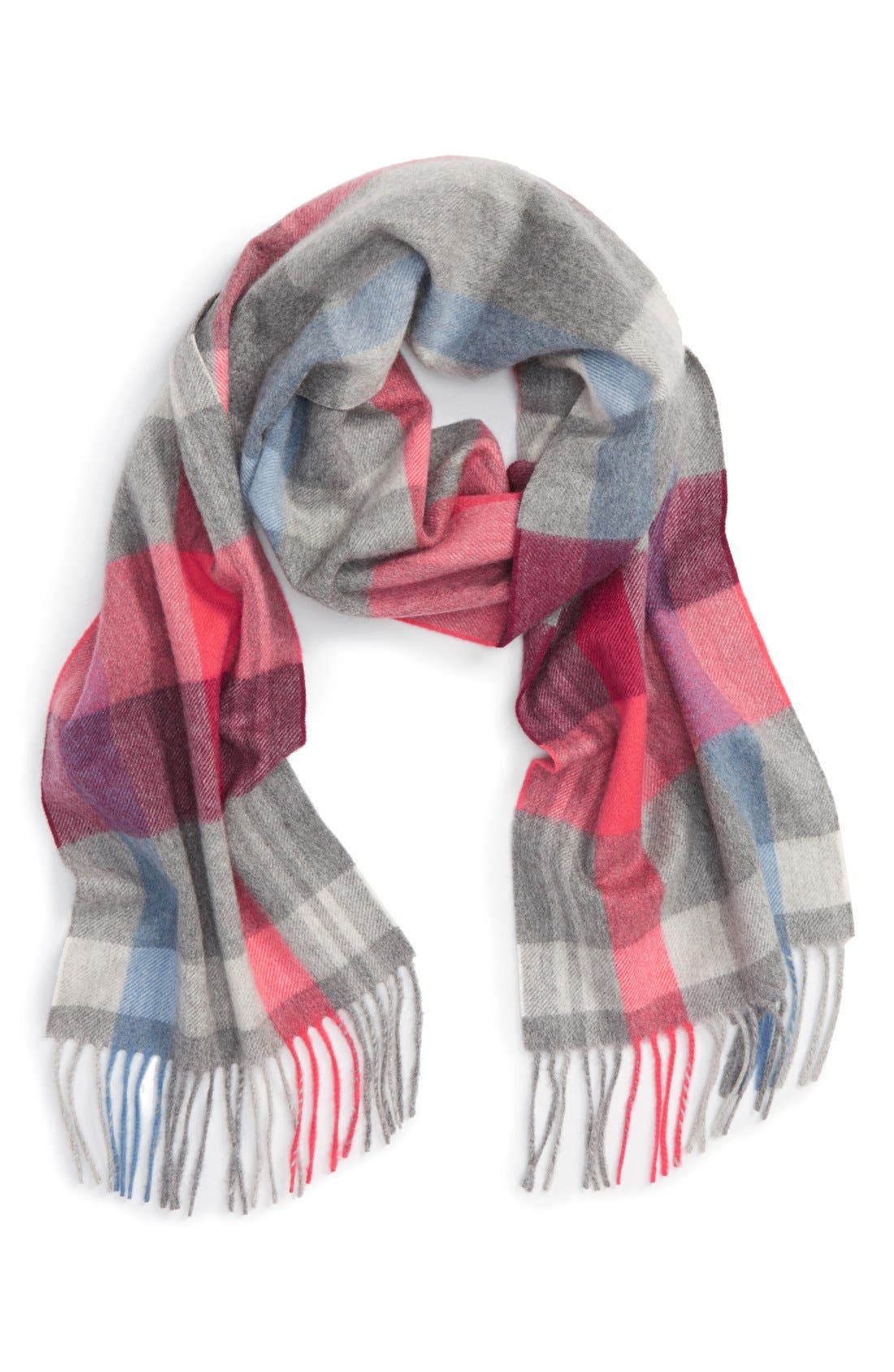 Alternate Image 1 Selected - Nordstrom Plaid Cashmere Scarf