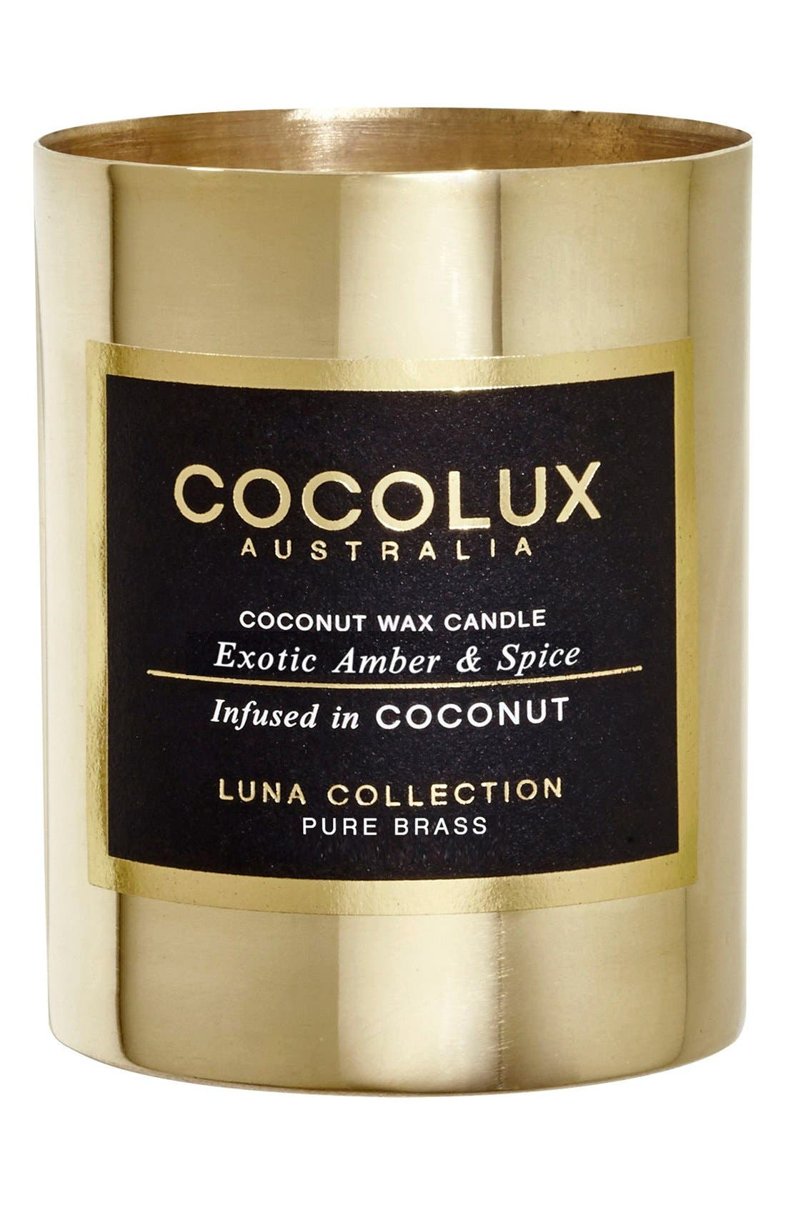 Cocolux Australia Exotic Amber & Spice Small Brass Candle