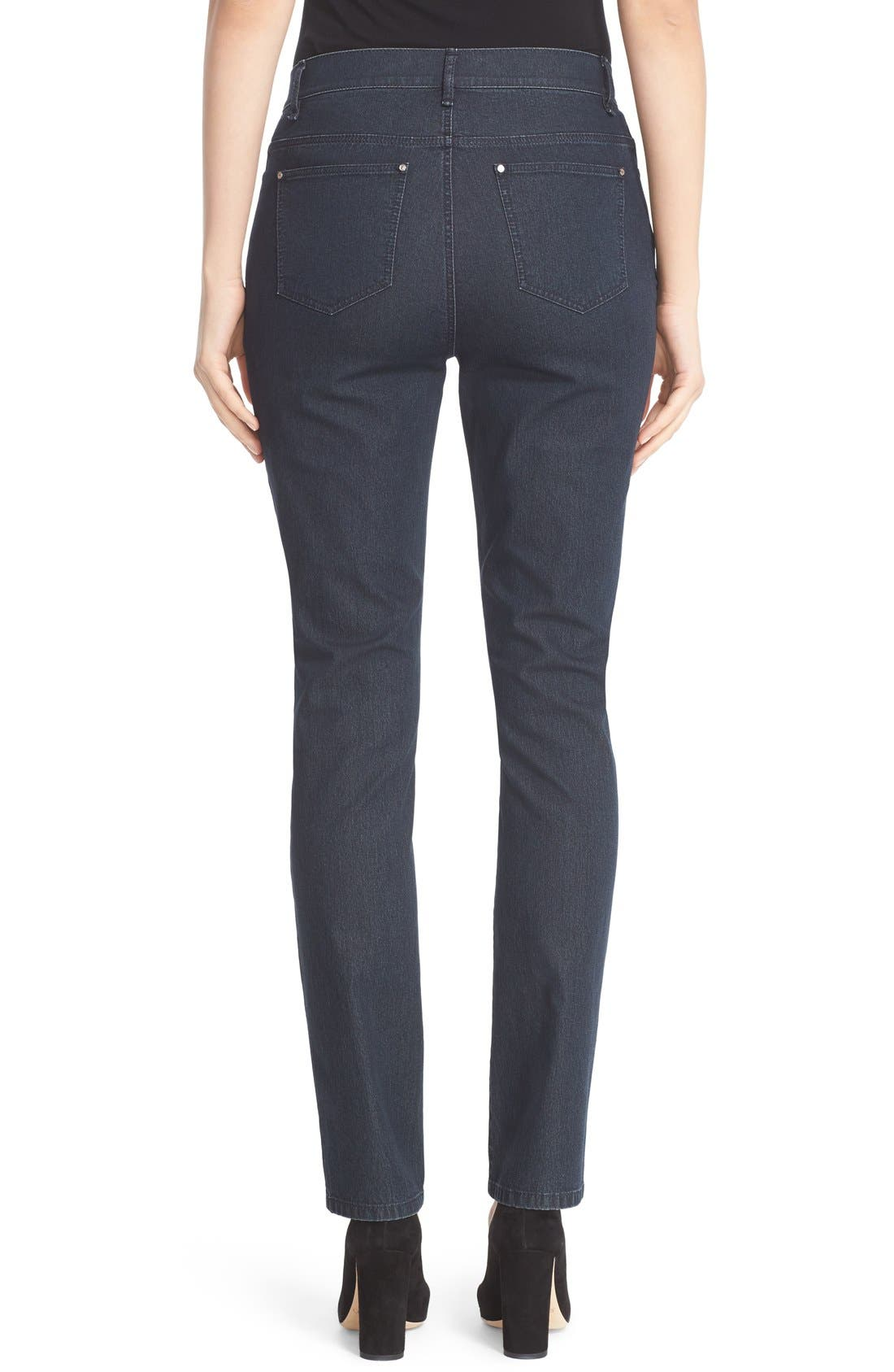 Alternate Image 2  - Lafayette 148 New York 'Primo Denim' Curvy Fit Slim Leg Jeans
