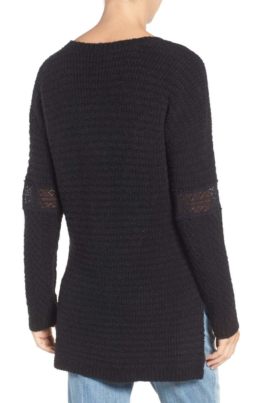 Alternate Image 2  - Hinge Lace Inset V-Neck Sweater