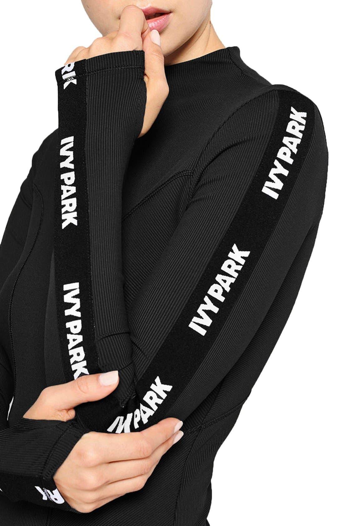Alternate Image 4  - IVY PARK® Elastic Logo Sleeve Bodysuit