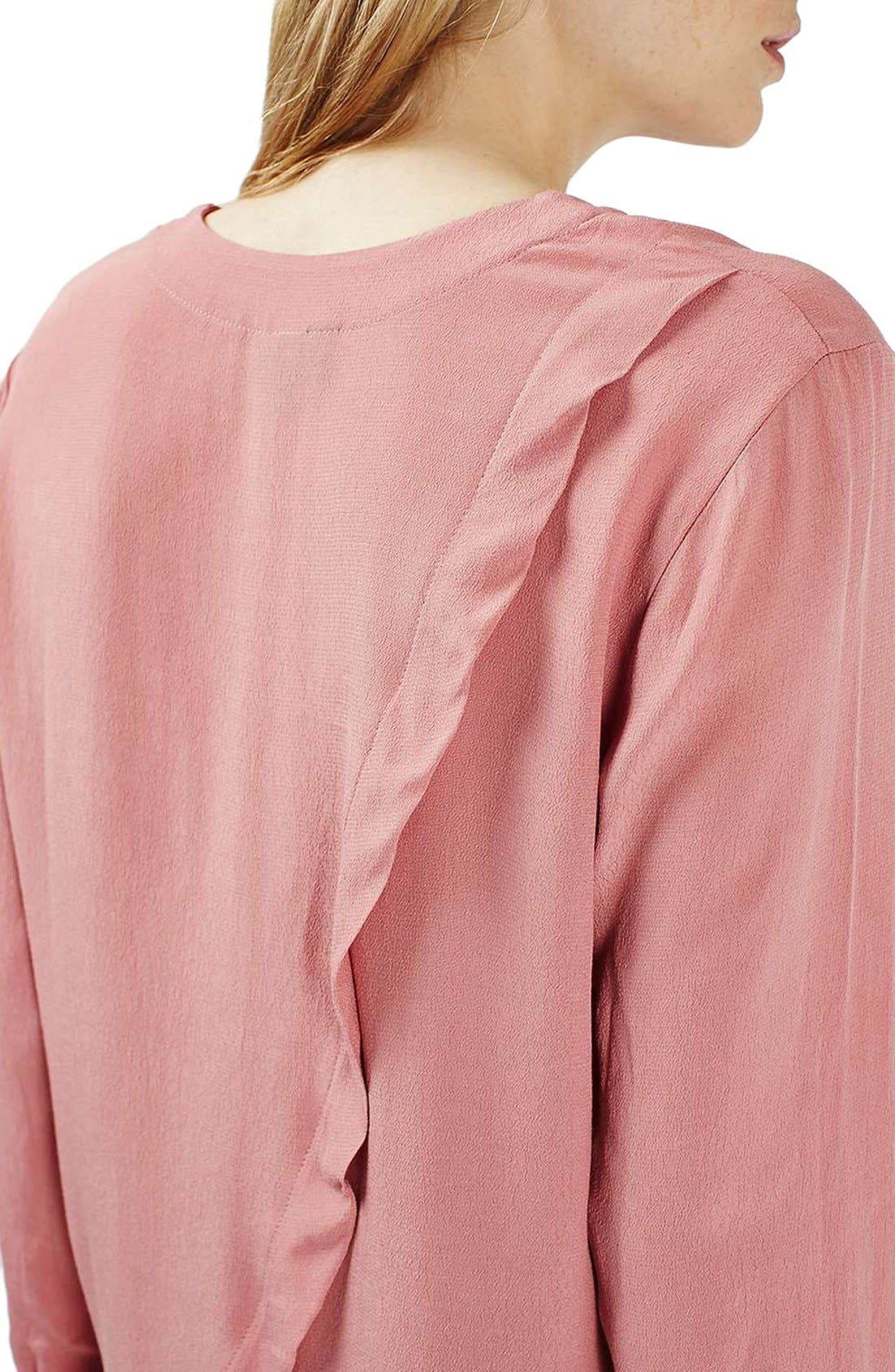 Alternate Image 5  - Topshop Slouchy Pocket Long Sleeve Blouse