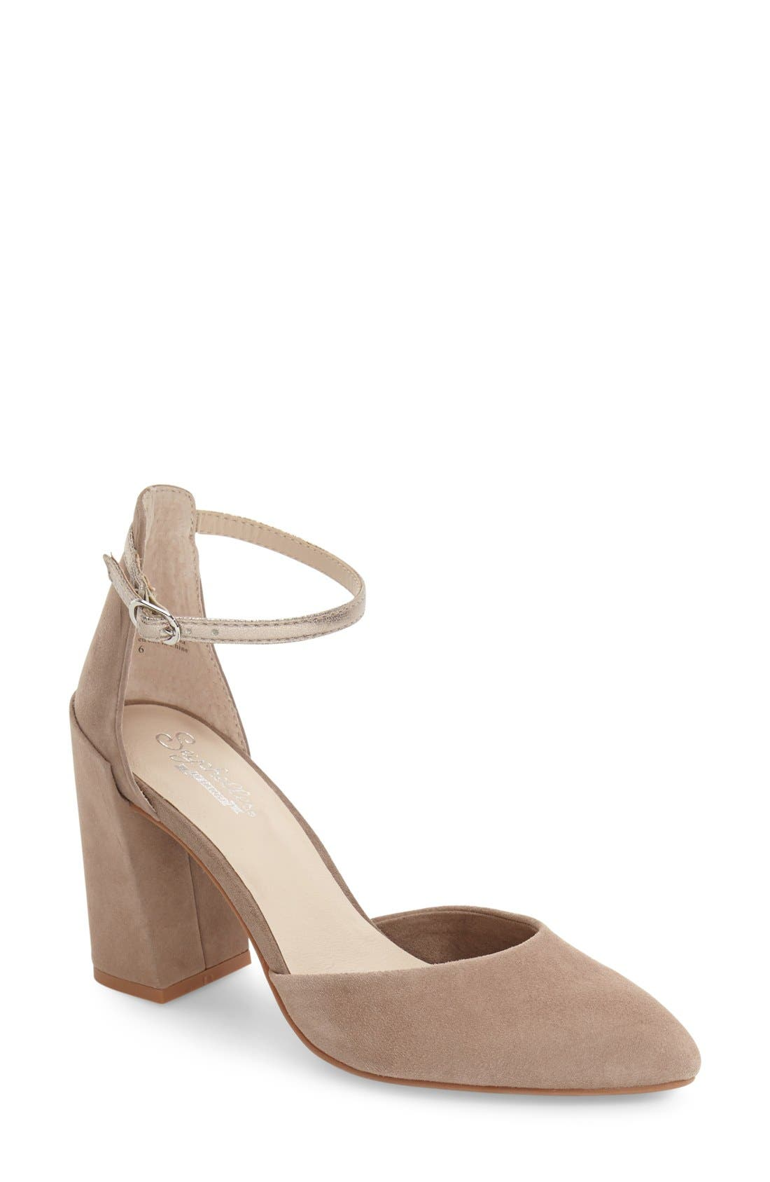 Alternate Image 1 Selected - Seychelles Gaggle Ankle Strap Pump (Women)