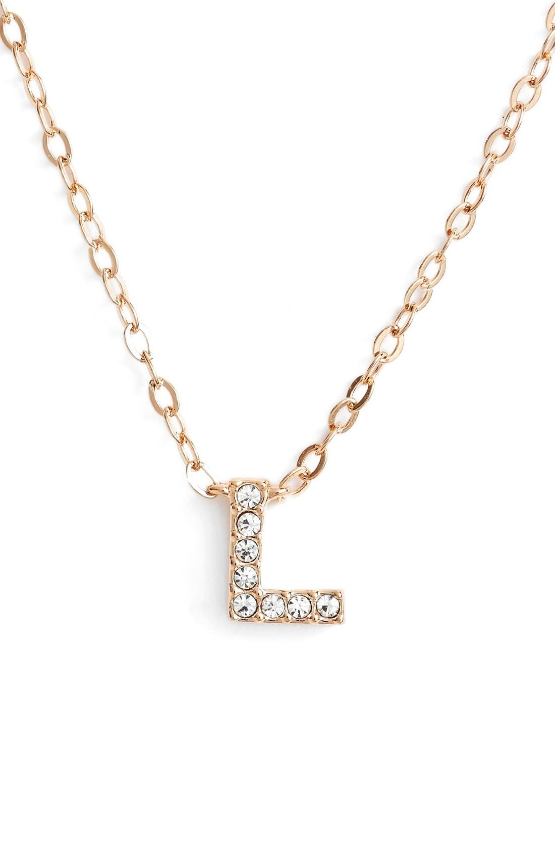 Nadri initial pendant necklace l rose gold modesens nadri initial pendant necklace l rose gold aloadofball Choice Image