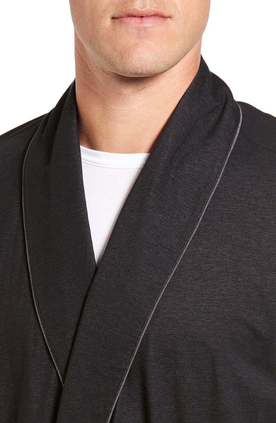 Alternate Image 4  - Nordstrom Men's Shop Cotton Blend Robe