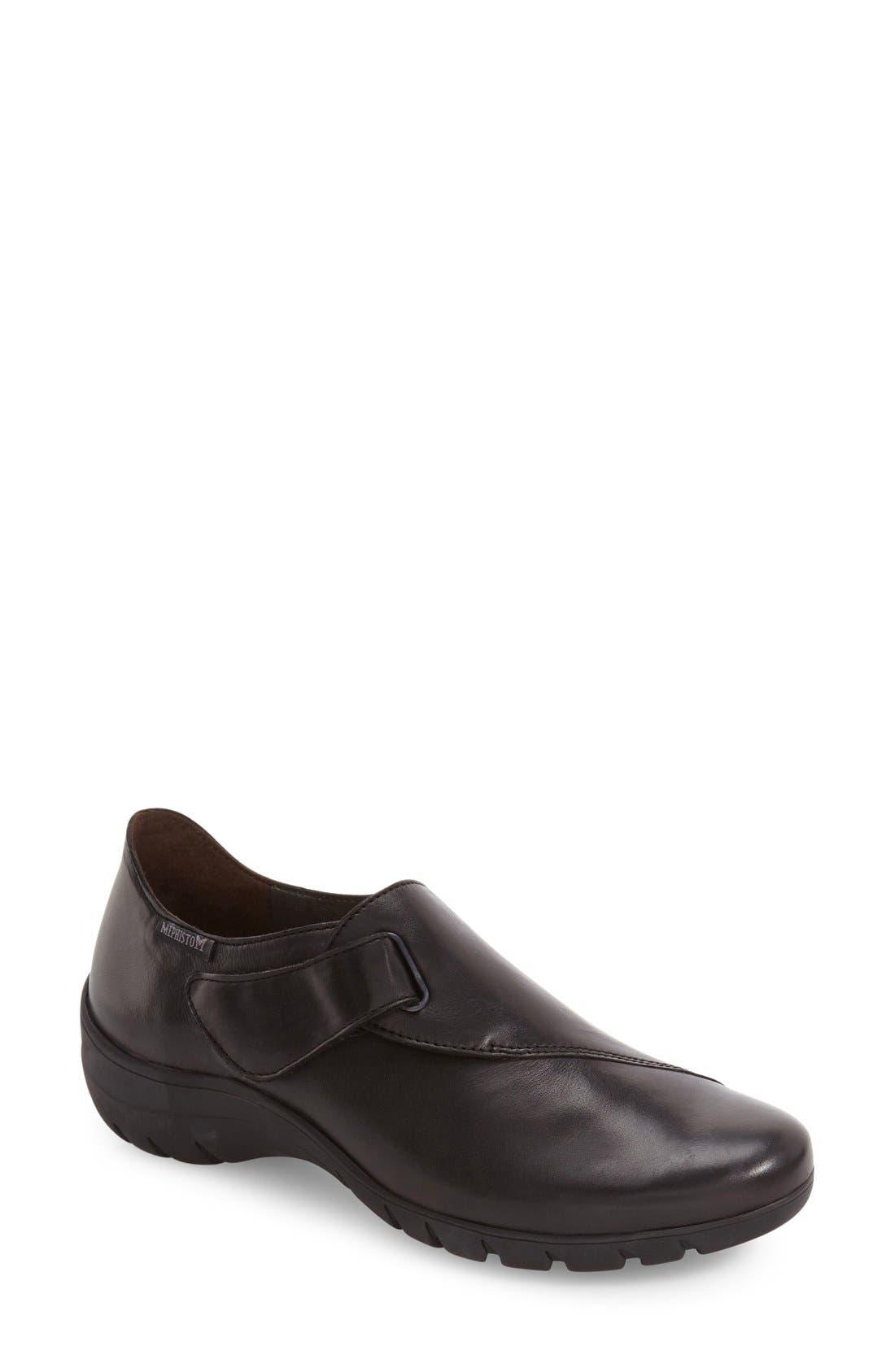 'Luce' Sneaker,                             Main thumbnail 1, color,                             Black Silk Leather