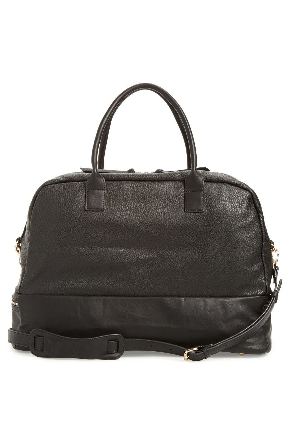 Mason Weekend Bag,                             Alternate thumbnail 3, color,                             Pebbled Black
